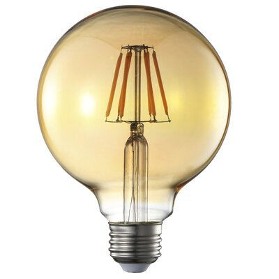 6W E26 G95 Led Amber Light Bulb