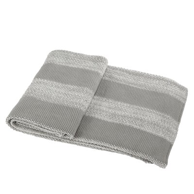 Cotton Throw Blanket Color: Gray