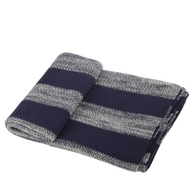 Cotton Throw Blanket Color: Blue