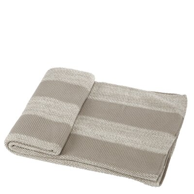 Cotton Throw Blanket Color: Taupe