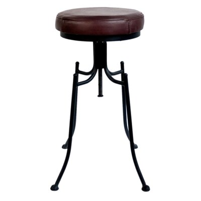 Grayville 24 Bar Stool Upholstery: Burgundy