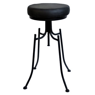 Grayville 24 inch Bar Stool Upholstery: Black