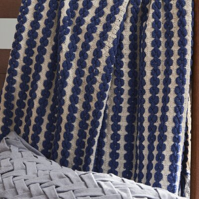 Nautica Textured Grand Chenille Throw Color: Navy