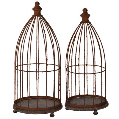 Glendive 2 Piece Bird Cage Set