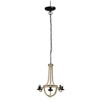 Patnode Iron Spray 6-Light Candle-Style Chandelier