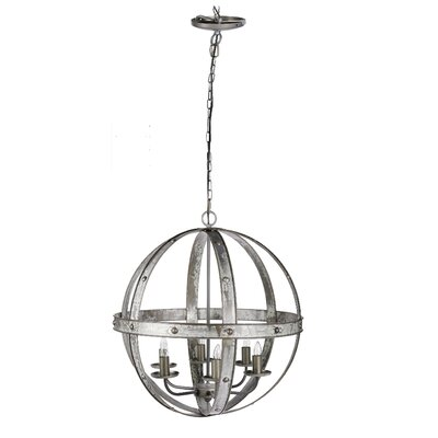 Patnode Iron Sphere 6-Light 60W Globe Pendant
