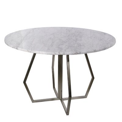 Millis Marble Round End Table Size: 29.92 H x 36.02 W x 36.02 D