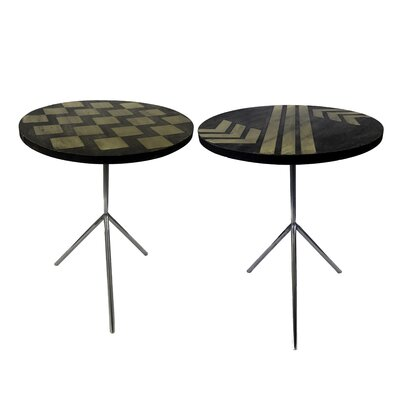 Degnan Contemporary 2 Piece End Table Set