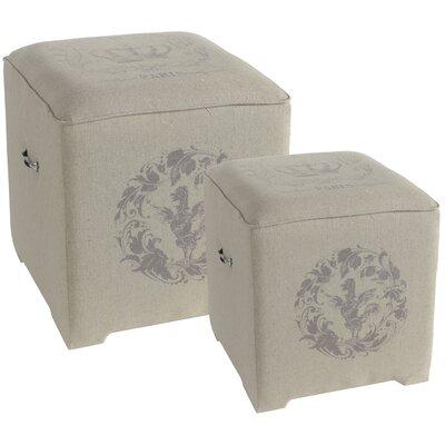 Cotton Cube Ottoman