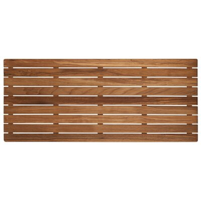 Nempnett Thrubwell Teak Shower Mat Size: 32 W x 14 D, Treatment: Unfinished, Type: Plantation Teak