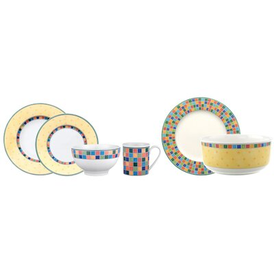 Twist Alea Limone 18 Piece Dinnerware Set, Service for 4 1013607171