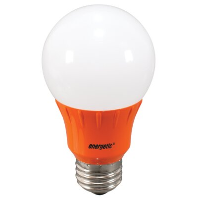 Orange Party Light Bulb