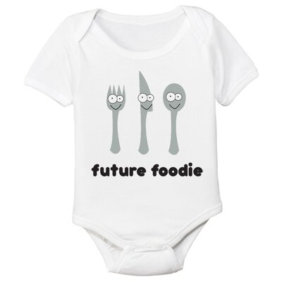 Spunky Stork Future Foodie Organic Short Sleeve in White - Size: 3-6 Month, Style: Bodysuit at Sears.com