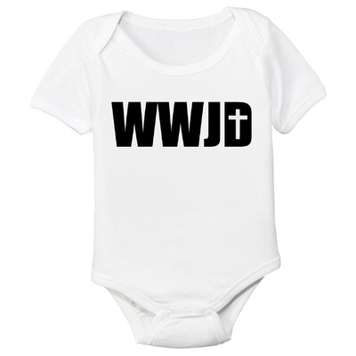 Spunky Stork What Would Jesus Do Organic Bodysuit - Size: 3-6 Month at Sears.com