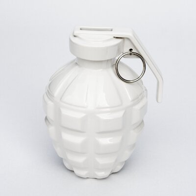 Biaugust A Love Grenade Coin Bank Color: White
