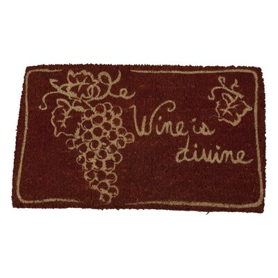 Wine Is Divine Doormat
