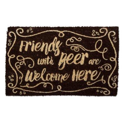 Friends Welcome Here Coir Doormat
