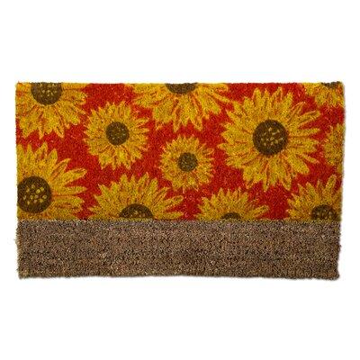 Sunflower Boot Scrape Coir Doormat