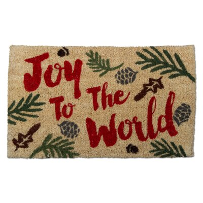 Christmas Joy to the World Doormat