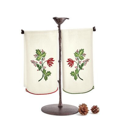 Greenery Embroidered 2 Piece Towel Set