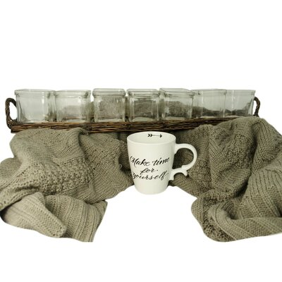 Tea Light Candles with Mug & Cozy Throw