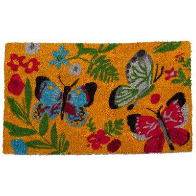 Sunshine Butterfly Coir Doormat