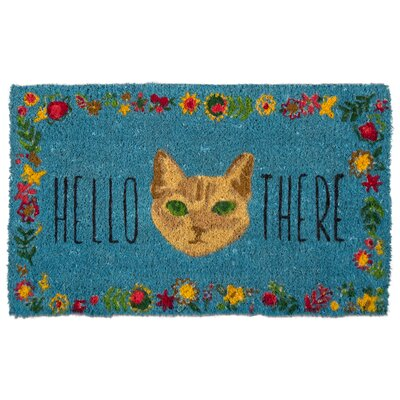 Hello There Cat Coir Doormat