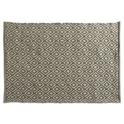 Quartz Hand-Loomed Green Indoor/Outdoor Area Rug