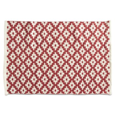 Zest Hand-Loomed Red Indoor/Outdoor Area Rug