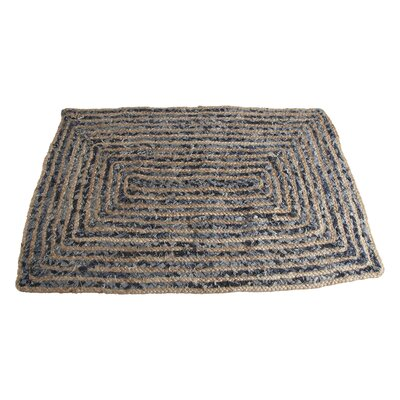 Hand-Woven Black Area Rug