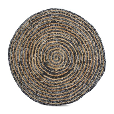 Hand-Woven Blue/Brown Area Rug
