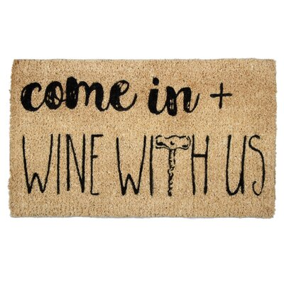 Come in and Wine Coir Doormats