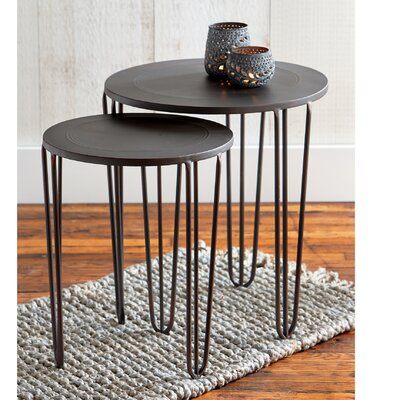 Burnished 2 Piece Nesting Table Set