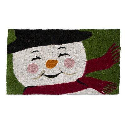 Vintage Snowman Coir Doormat