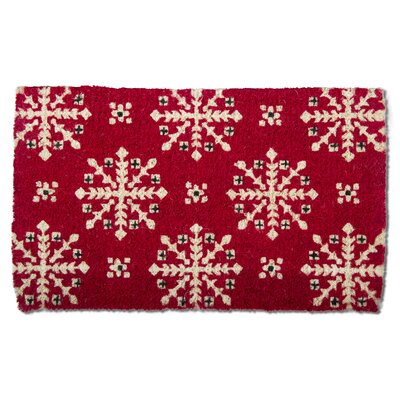 Lodge Snowflake Coir Doormat