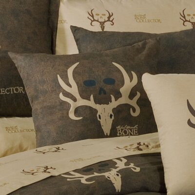 Logo Cotton Blend Throw Pillow Color: Brown