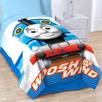 Thomas and Friends Go Go Mr Fleece Throw Blanket