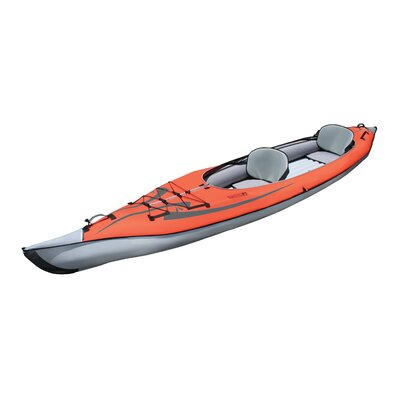 Cheap Advanced Elements Advancedframe Convertible Inflatable Kayak in Red and Gray (AE1007R)