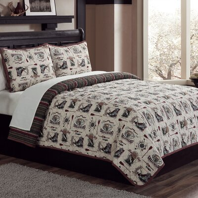 Fishin Hole Reversible Quilt Set Size: King