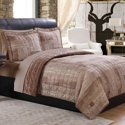 Woodgrain Quilt Set Size: Full/Queen