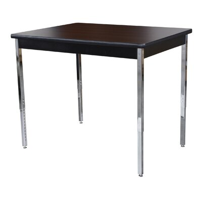 Activity Utility Training Table Size: 29 H x 60 W x 20 D, Tabletop Finish: Walnut / Black