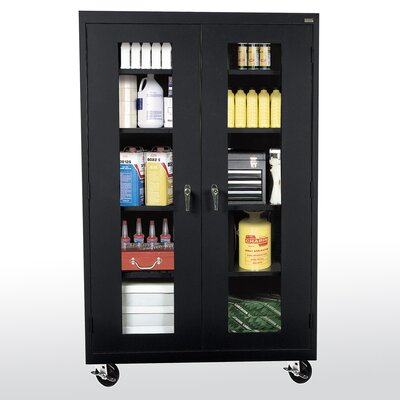 Transport Clear View 2 Door Storage Cabinet Color: Black Product Picture 3012