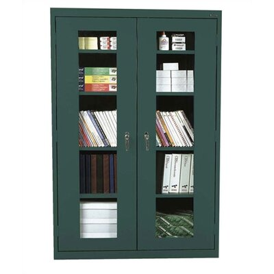 Clear View 2 Door Storage Cabinet Color: Forest Green Product Picture 3012