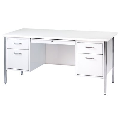 Drawers Double Pedestal Executive Desk Product Picture 3677