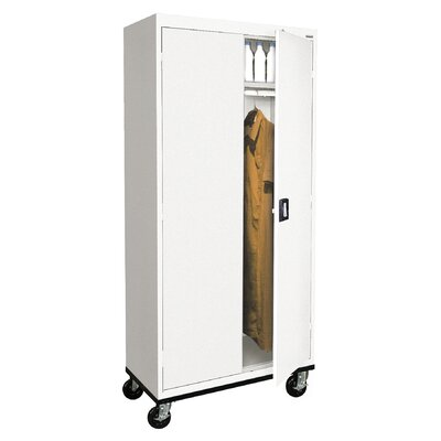 Transport Mobile Armoire Size: 78 H x 36 W  x  24 D, Finish: White