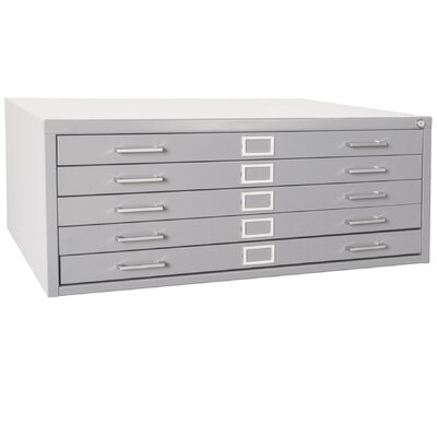 Flat Files 5 Drawer Filing Cabinet Color: Dove Gray