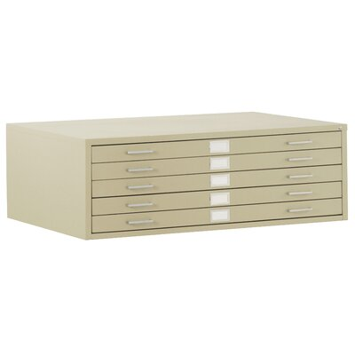 Flat Files 5 Drawer Filing Cabinet Color: Putty