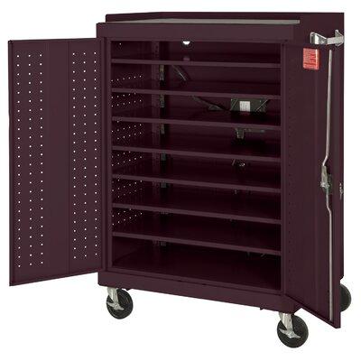 Sandusky 16-Compartment Mobile Laptop Security Cabinet - Size: 52