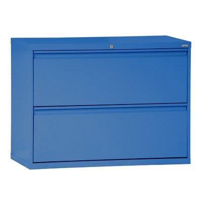 "Sandusky 800 Series 2-Drawer  File - Finish: Blue, Size: 28.375"" H x 42"" W x 19.25"" D at Sears.com"