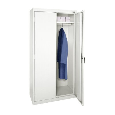 Wardrobe Armoire Size: 72 H x 46 W  x  24 D, Finish: White